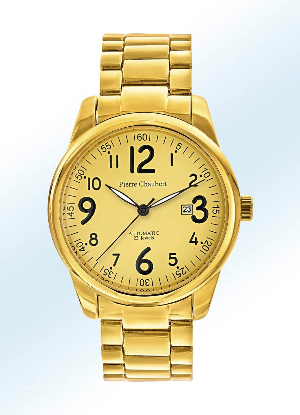 Automatik-Herrenuhr der Marke Pierre Chaubert Uhrenband Stahlband Herren Preisvergleich