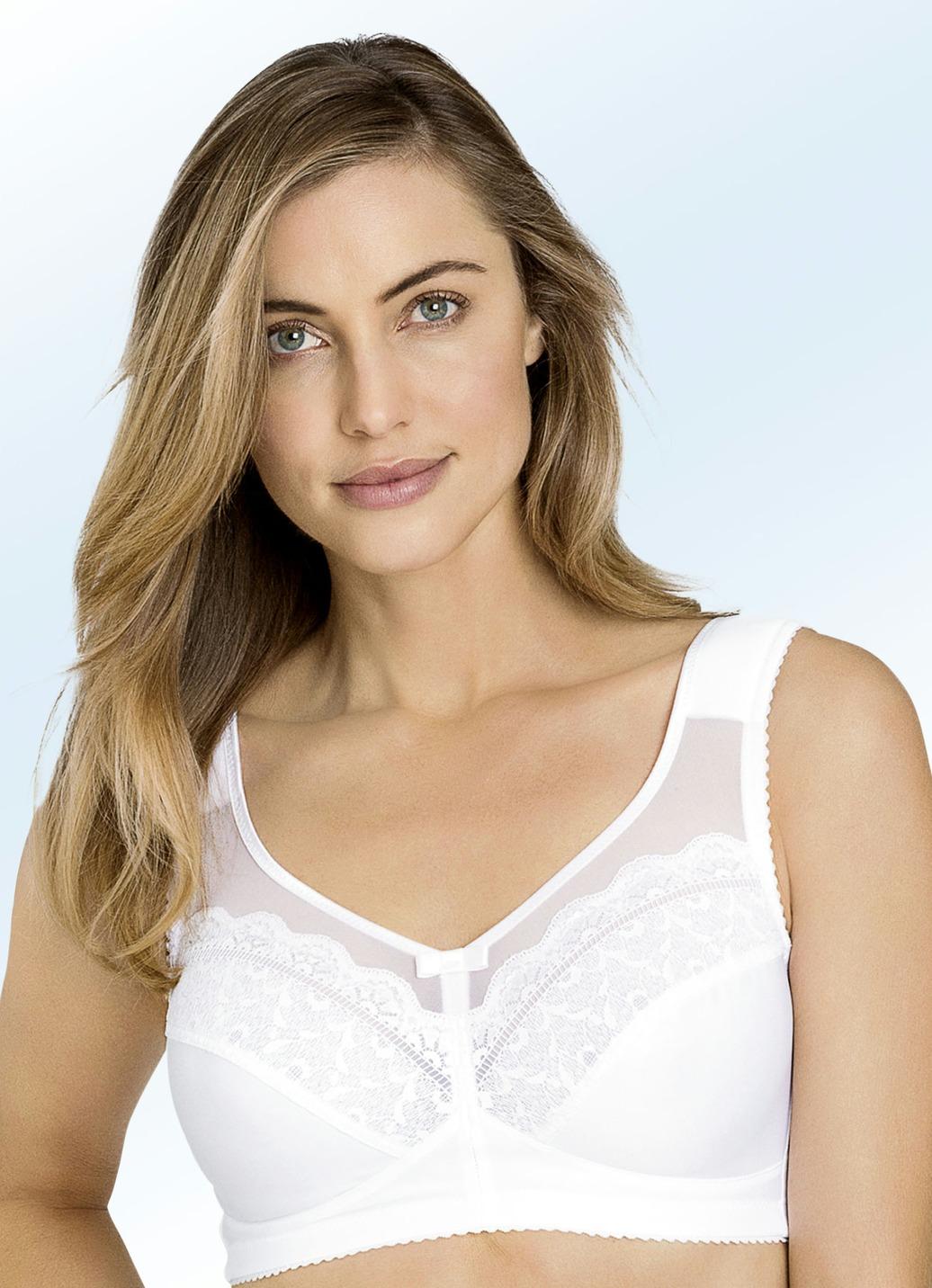 Miss Mary-BH in Weiß mit Elastiktüll am Dekolleté Cup B Weiss Größe 90 Damen Preisvergleich