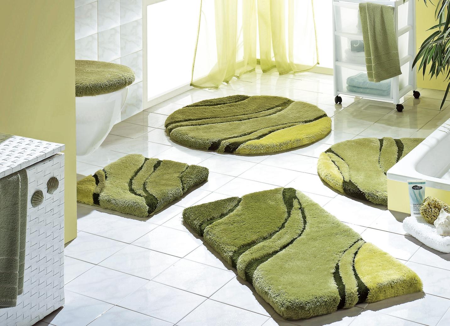 Kleine Wolke Badgarnitur  Größe 112 (WC-Deckelbezug mit Kordel) Grün Preisvergleich