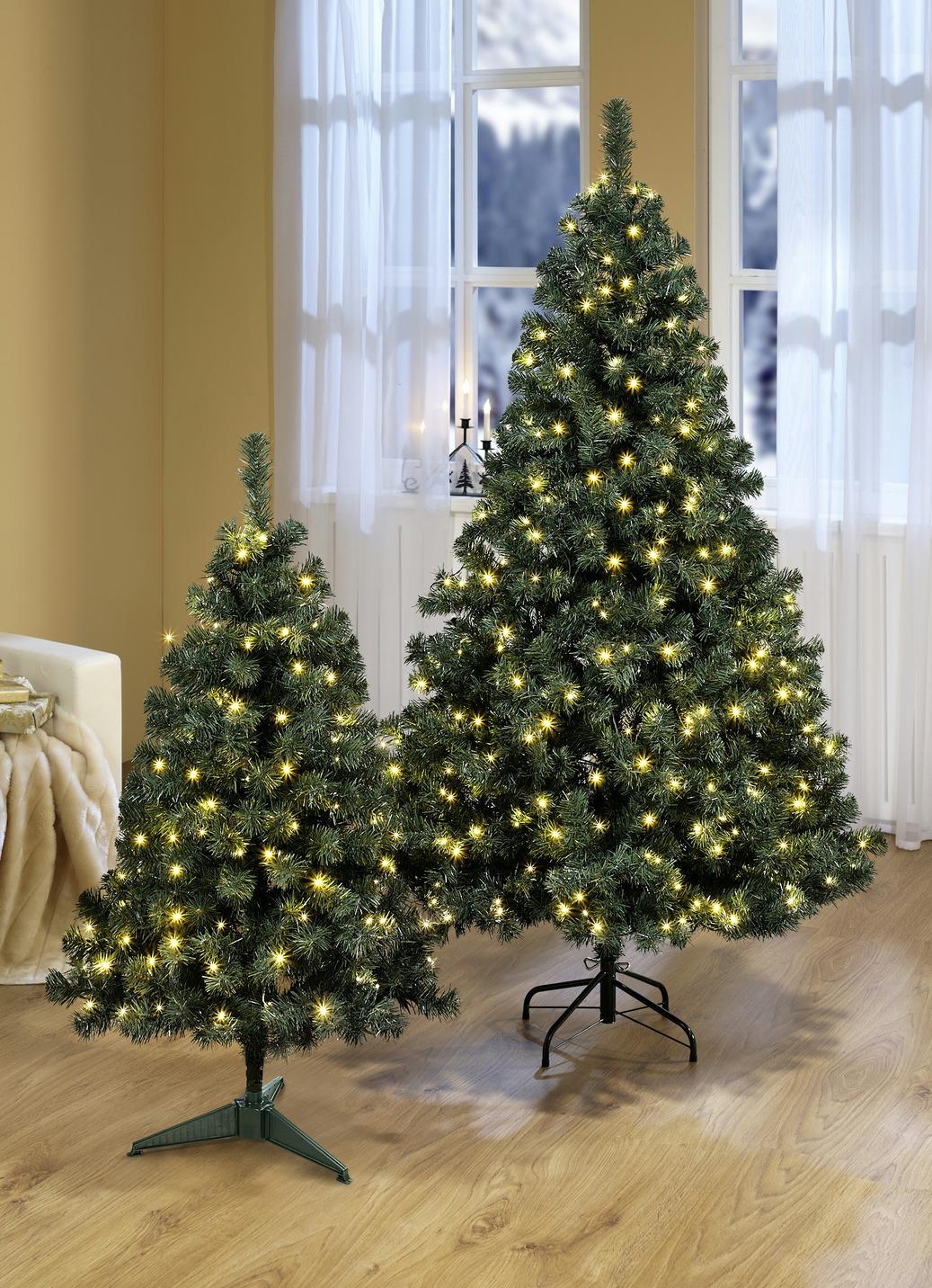 Beleuchteter Tannenbaum  Höhe ca. 90 cm Grün Preisvergleich