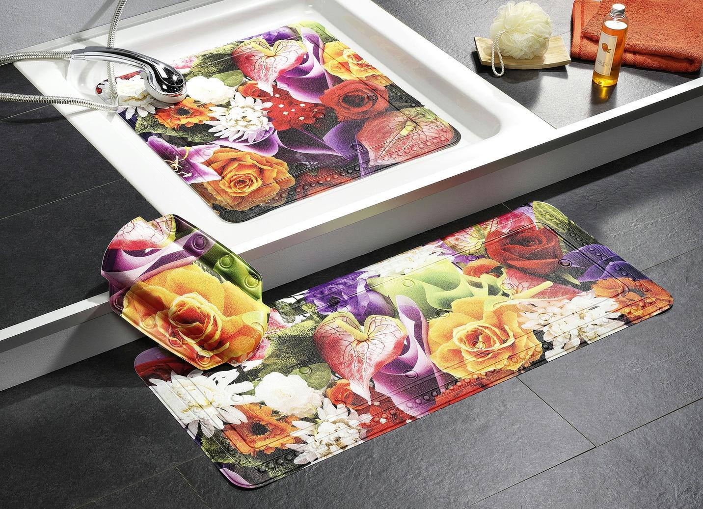 Kleine Wolke Sicherheitseinlagen mit Blütendessin Größe 301 (Wanneneinlage 36x92 cm) Bunt Preisvergleich