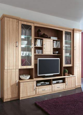 fürs wohnzimmer: schicke anbauwände mit reichlich stauraum, Wohnzimmer