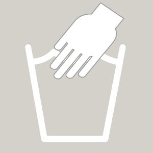 Waschhinweis für Handwäsche