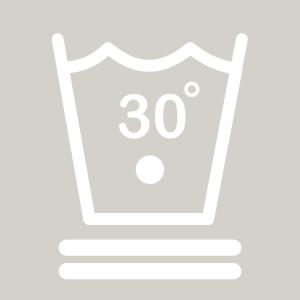 Waschhinweis für Fein- oder Wollwäsche bei 30 Grad