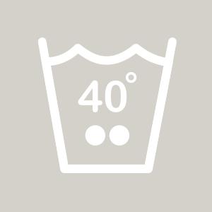 Waschhinweis für Buntwäsche bei 40 Grad