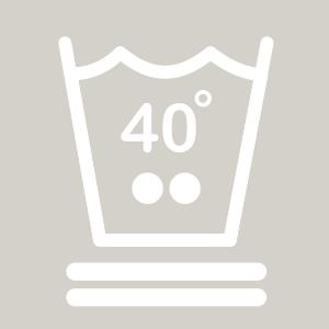 Waschhinweis für Feinwäsche oder Wollwäsche bei 40 Grad