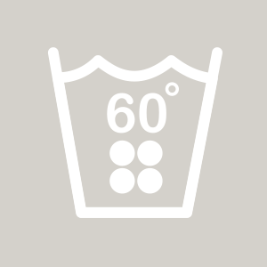 Waschhinweis für Buntwäsche bei 60 Grad