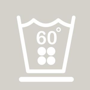 Waschhinweis für pflegleichte Wäsche 60 Grad