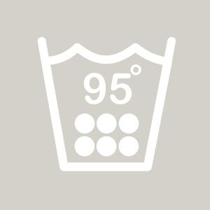 Waschhinweis für Kochwäsche bei 95 Grad
